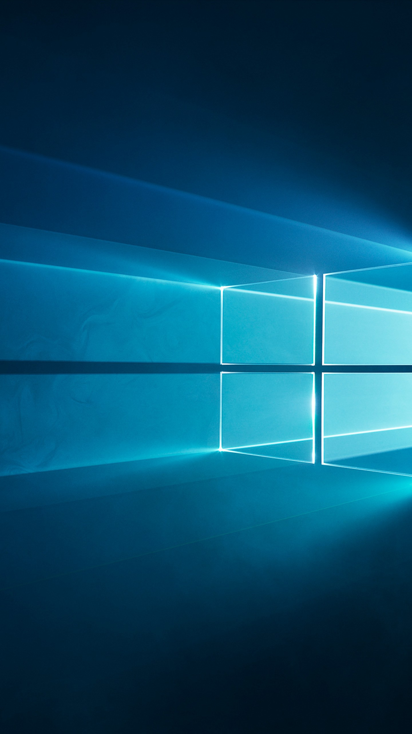 عکس زمینه آرم ویندوز 10 آبی رنگ پس زمینه