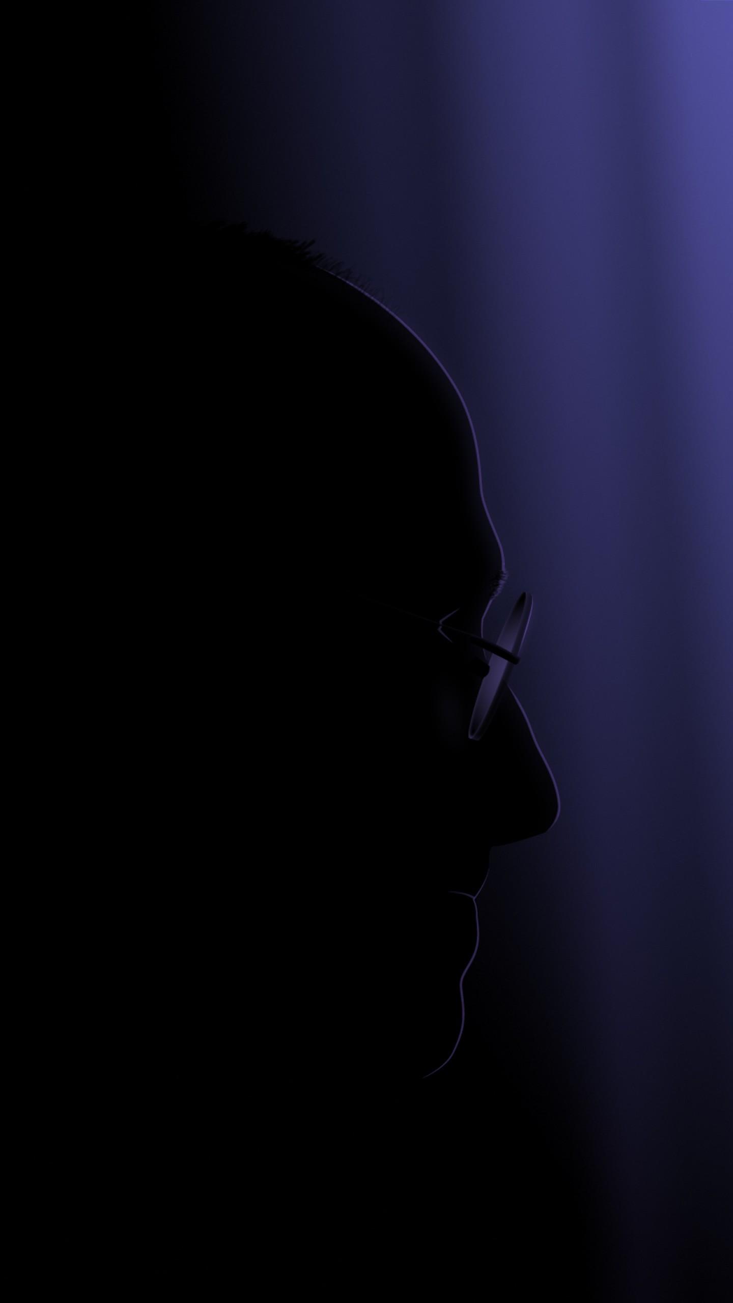 عکس زمینه استیو جابز در صفحه بدون نور پس زمینه