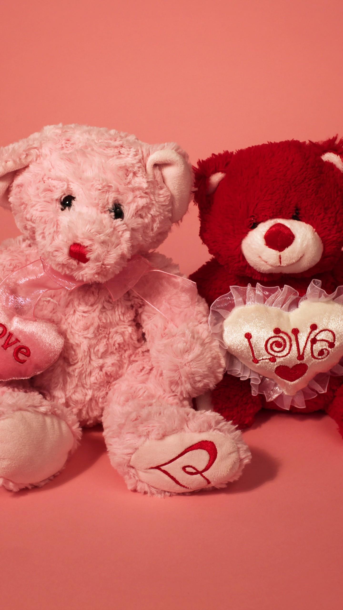 عکس زمینه خرس عروسکی برای تبریک روز ولنتاین پس زمینه