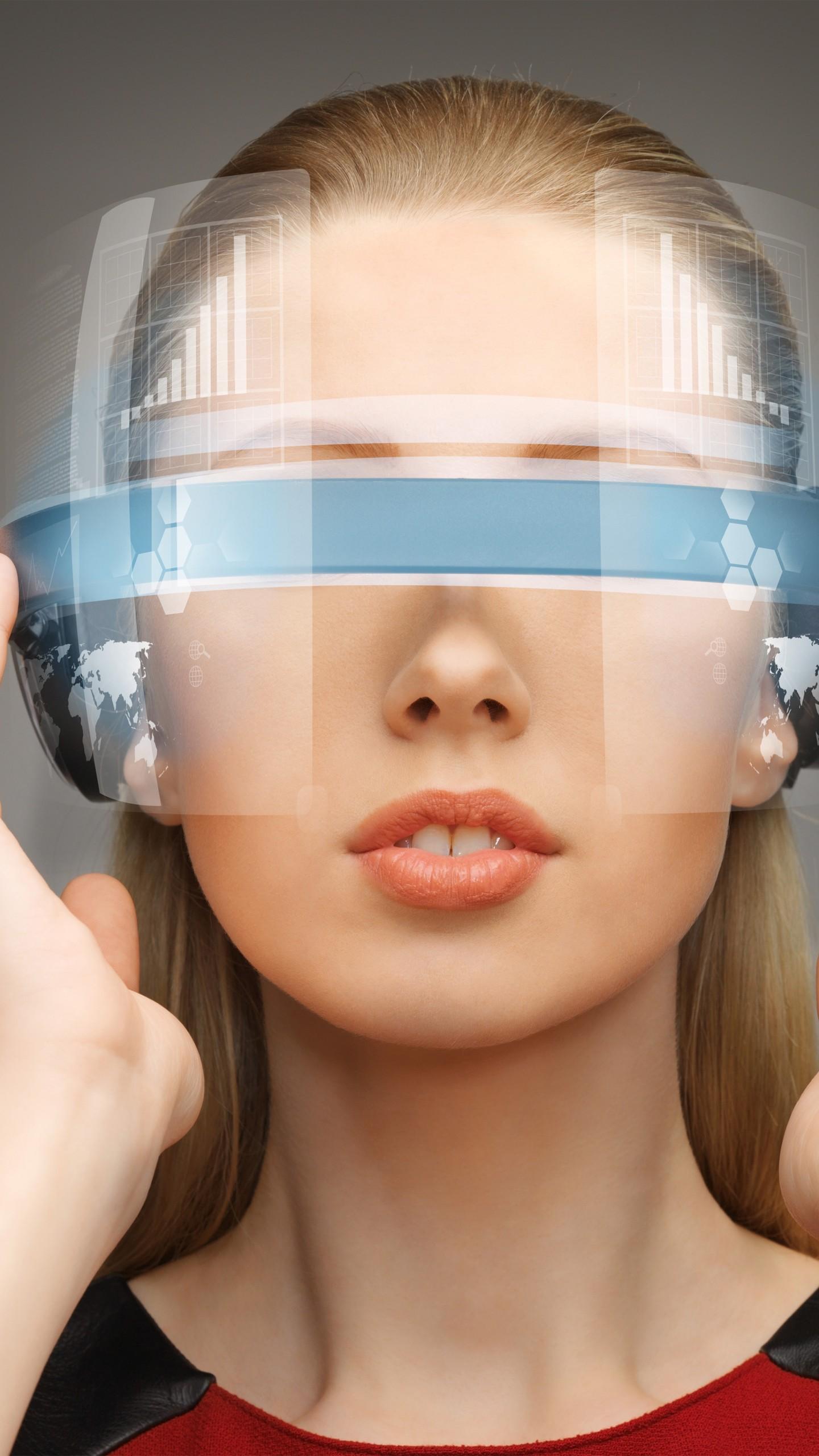 عکس زمینه واقعیت مجازی و مفهوم فناوری VR پس زمینه
