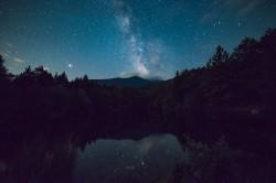 عکس زمینه منظره زیبای آسمان شب