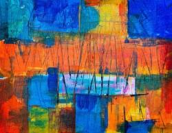 عکس زمینه نقاشی رنگارنگ چکیده