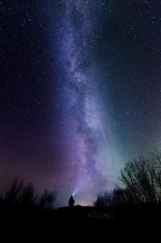 عکس زمینه آسمان پر ستاره و شب