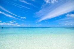 عکس زمینه رنگ آبی روشن ساحل