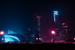 عکس زمینه ساختمان ها در شب
