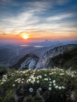 عکس زمینه کوه در سحر