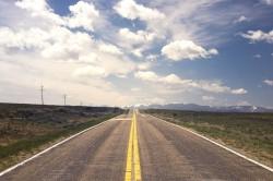 عکس زمینه آسفالت خاکستری جاده