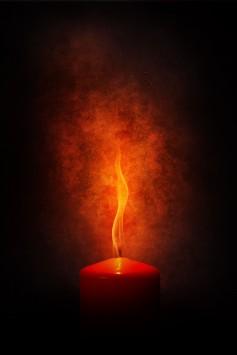 عکس زمینه شمع قرمز