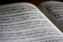 عکس زمینه دفتر نت موسیقی