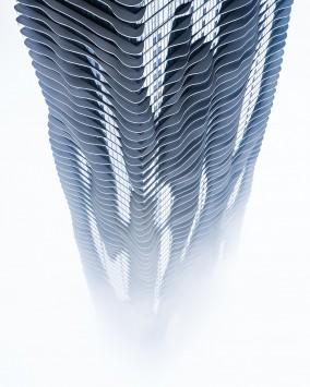 عکس زمینه برج خاکستری 3D