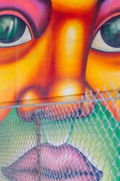عکس زمینه نقاشی دیواری چهره انسان