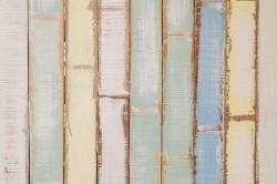 عکس زمینه دیوار چوبی دکور زرد آبی و سبز