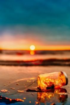 عکس زمینه زیبا غروب ساحل