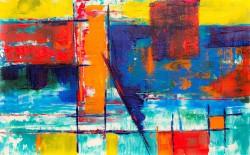 عکس زمینه چکیده نقاشی رنگارنگ