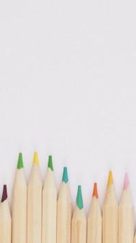 عکس زمینه مداد رنگی ساده و زیبا