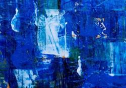 عکس زمینه نقاشی آبی مدرن