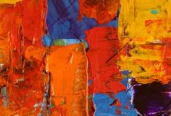 عکس زمینه بوم نقاشی نارنجی قرمز آبی