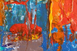 عکس زمینه نقاشی انتزاعی رنگارنگ زیبا