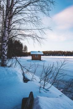 عکس زمینه منظره زیبا زمستانی و برفی سرد