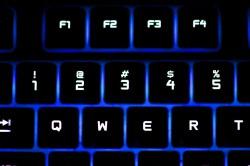 عکس زمینه صفحه کلید نئونی روشن
