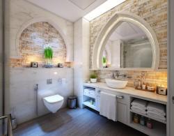 عکس زمینه حمام سنتی با حوله سفید