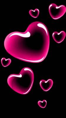 عکس زمینه قلب صورتی عشق