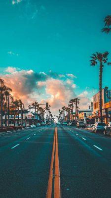 عکس زمینه خیابان های شهری در آمریکا