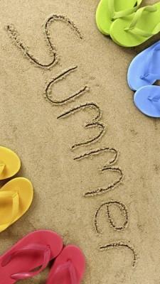 عکس زمینه تابستان و شن ساحل