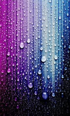 عکس زمینه قطره های رنگارنگ آبی بنفش