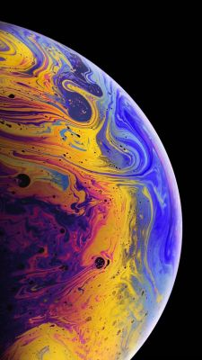عکس زمینه لاک اسکرین آیفون XS رنگی