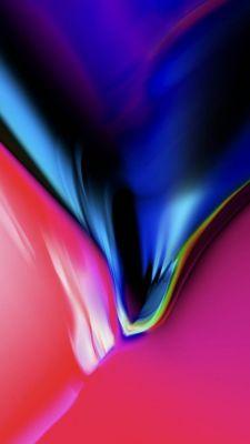 عکس زمینه آیفون X رنگی سرخ و آبی