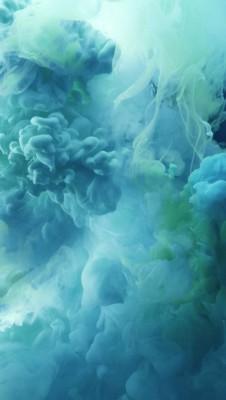 عکس زمینه آیفون 6S دود های آبی