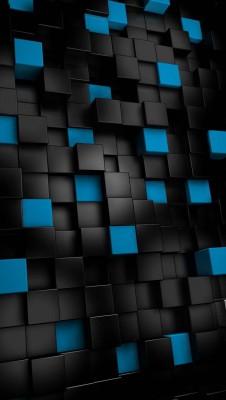 عکس زمینه مکعب های آبی مشکی آیفون 6
