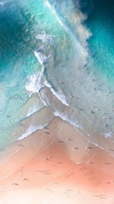 عکس زمینه ساحل اقیانوس آبی IOS 11