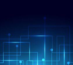 عکس زمینه فناوری دیجیتال آبی