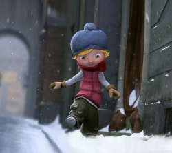 عکس زمینه کارتونی پسرک در برف