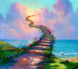 عکس زمینه مفهومی پله به آسمان