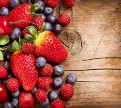 عکس زمینه میوه توت و بلوبری