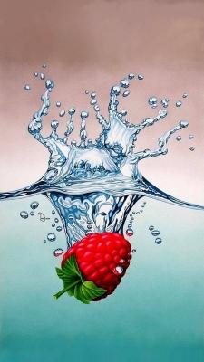 عکس زمینه هنری میوه تمشک