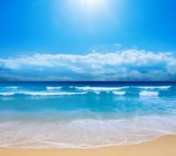 عکس زمینه طبیعت ساحل اقیانوس آفتابی
