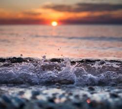عکس زمینه غروب اقیانوس