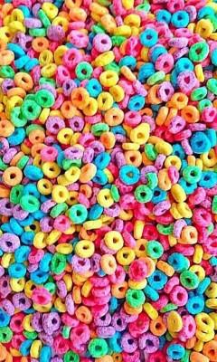 عکس زمینه حلقه های رنگی خوراکی
