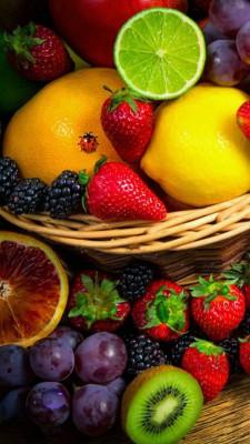 عکس زمینه سبد میوه های زیبا