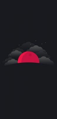عکس زمینه ماه سرخ مینیمال