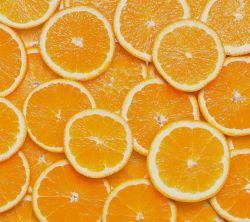 عکس زمینه برش های پرتقال نارنجی