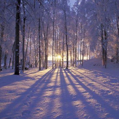 عکس زمینه غروب زمستان آلاسکا