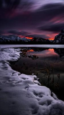 عکس زمینه چشم انداز زمستانی