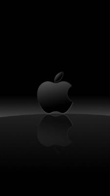 عکس زمینه آرم اپل سیاه و سفید