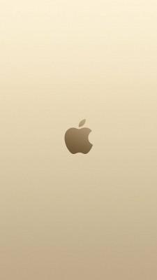 عکس زمینه اپل طلایی شیک