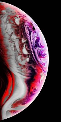 عکس زمینه گوی رنگی زیبا آیفون X